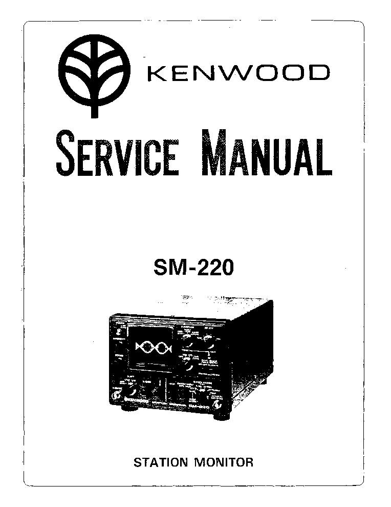KENWOOD SM-220 STATION MONITOR Service Manual download
