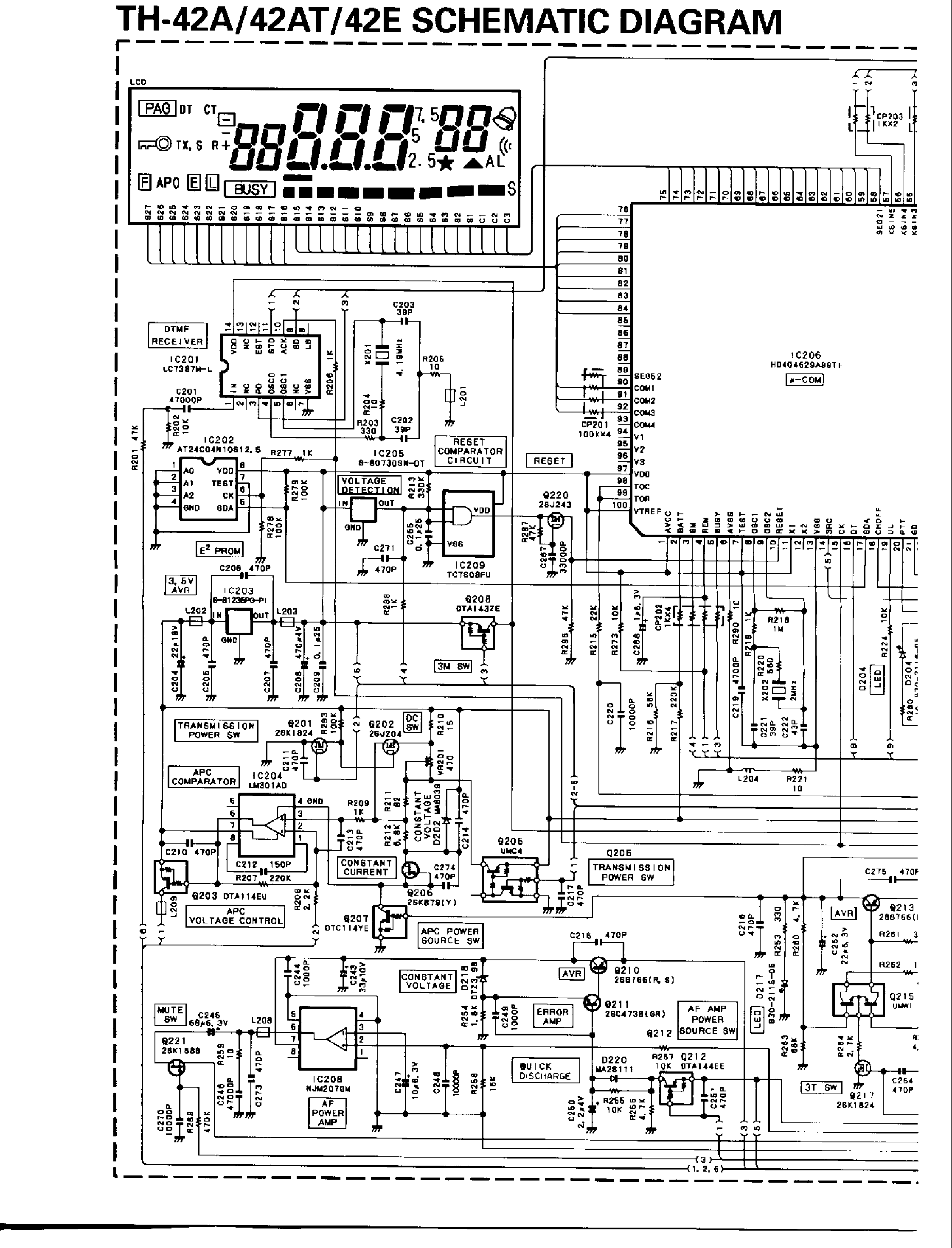 KENWOOD TM-D700 Service Manual free download, schematics