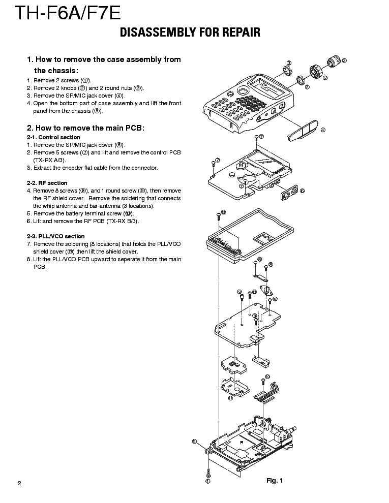 KENWOOD TH-F6A TH-F7E SM Service Manual download