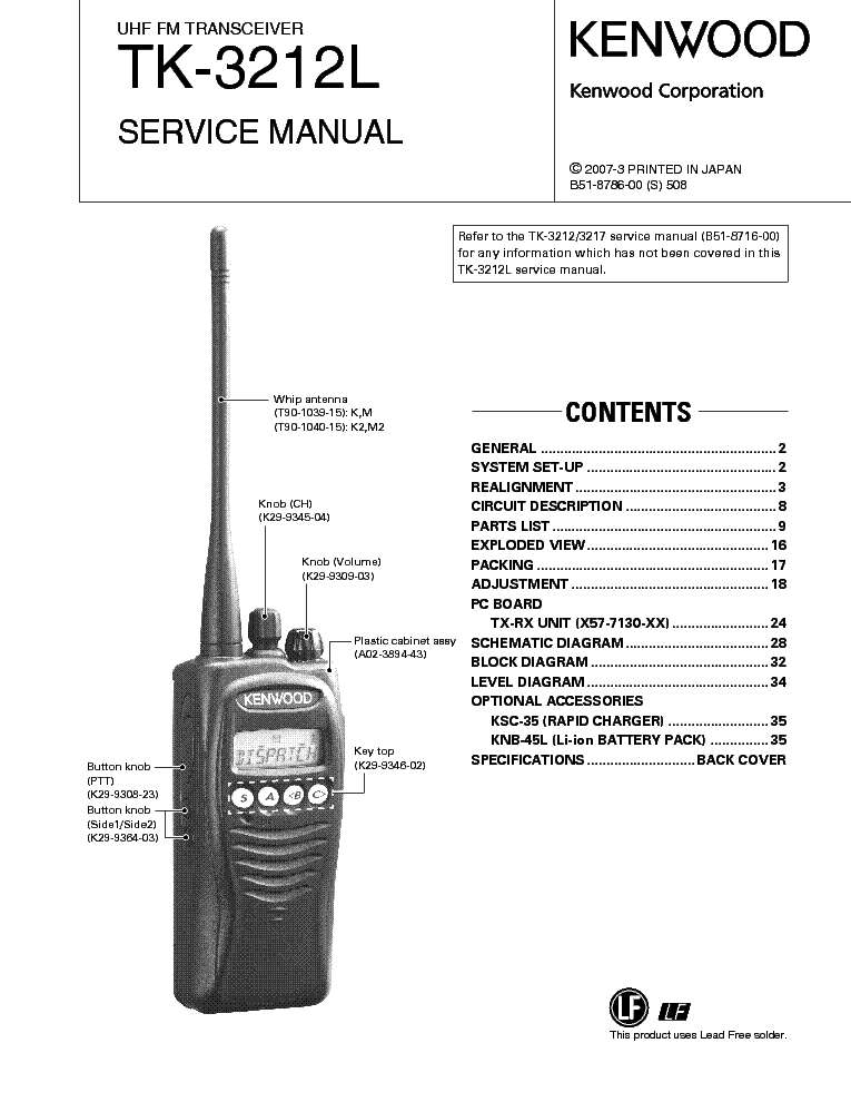 KENWOOD TM-2530A Service Manual download, schematics