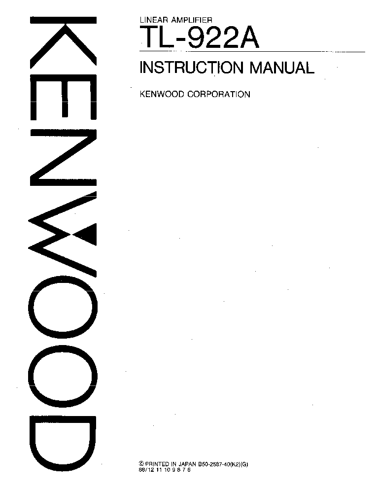 KENWOOD TM-D700 Service Manual download, schematics