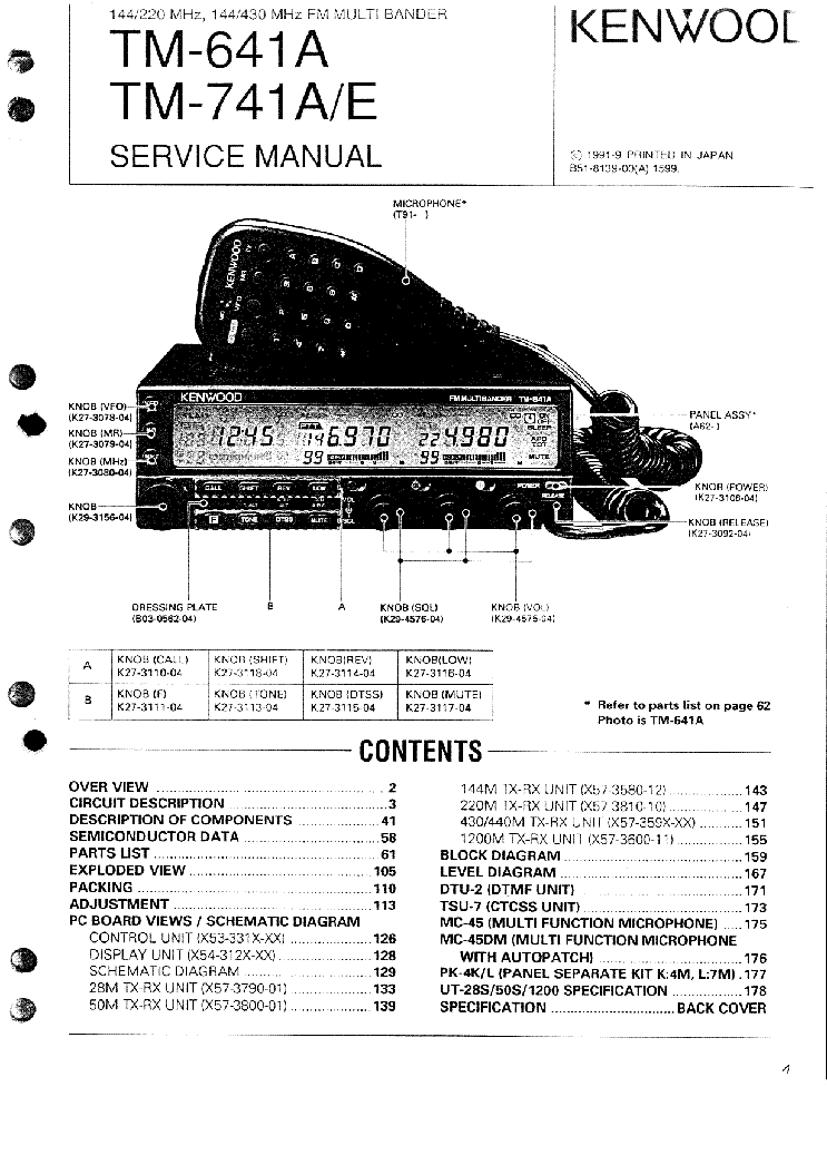 KENWOOD AT-120 Service Manual download, schematics, eeprom