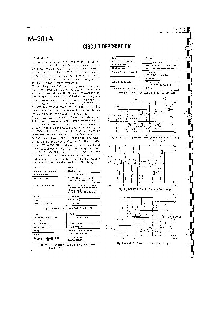 KENWOOD TM201 Service Manual download, schematics, eeprom