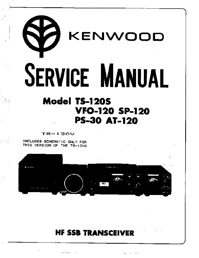 KENWOOD TS-120S SM Service Manual download, schematics