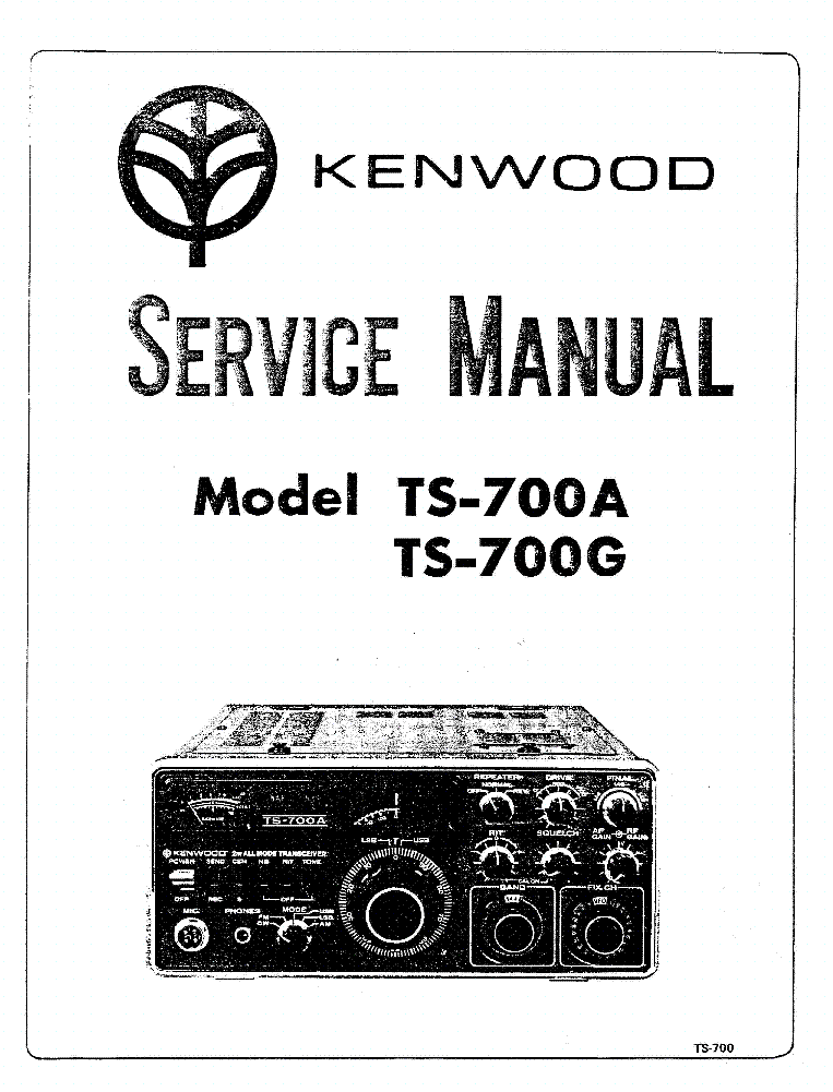 KENWOOD TS-700 Service Manual download, schematics, eeprom