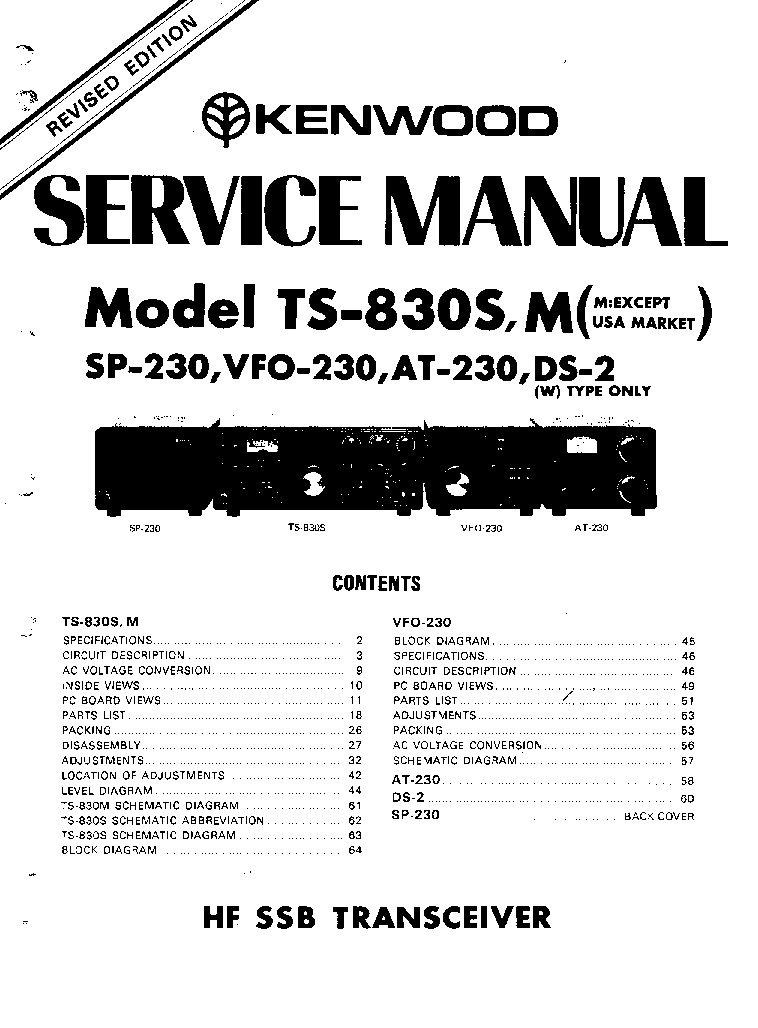 KENWOOD PS-30 SM Service Manual download, schematics