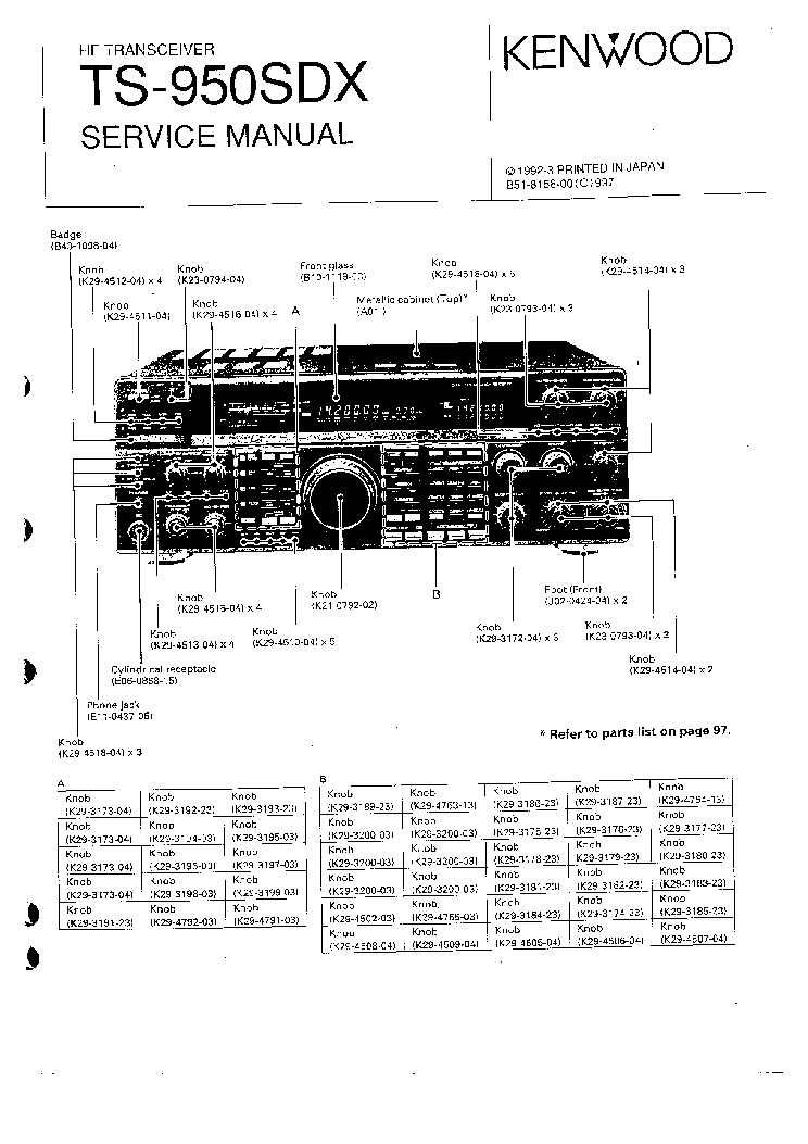 KENWOOD TS-950SDX SM Service Manual download, schematics