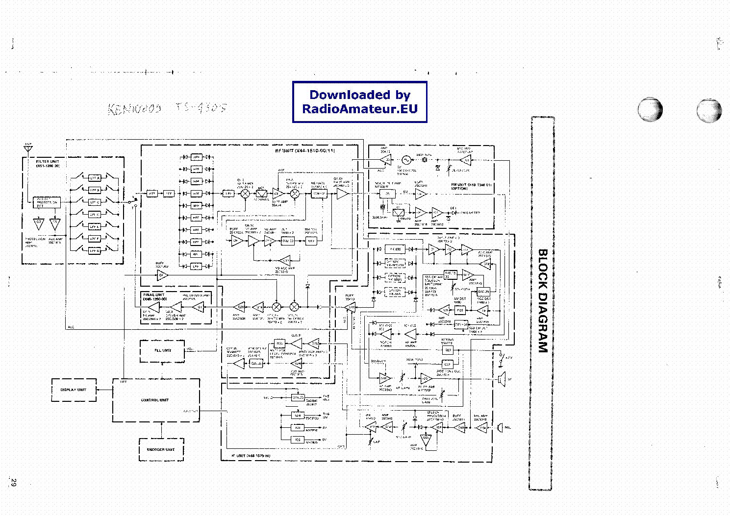 KENWOOD TS430S Service Manual download, schematics, eeprom