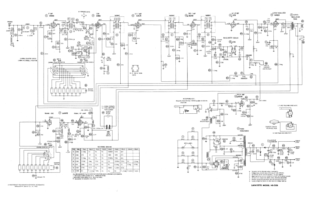 medium resolution of lafayette wiring diagrams wiring library lafayette he20b service manual 1st page