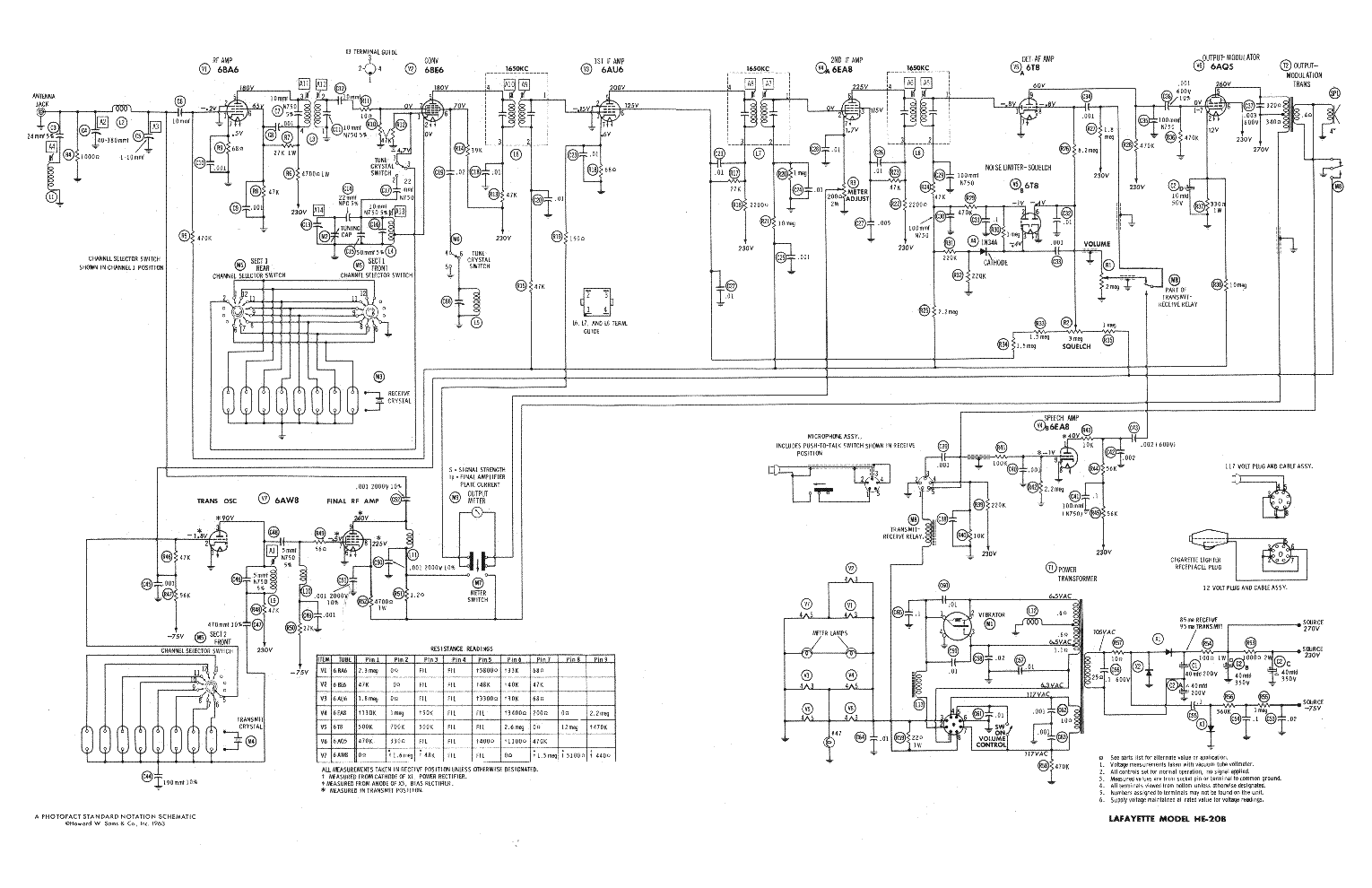 hight resolution of lafayette wiring diagrams wiring library lafayette he20b service manual 1st page
