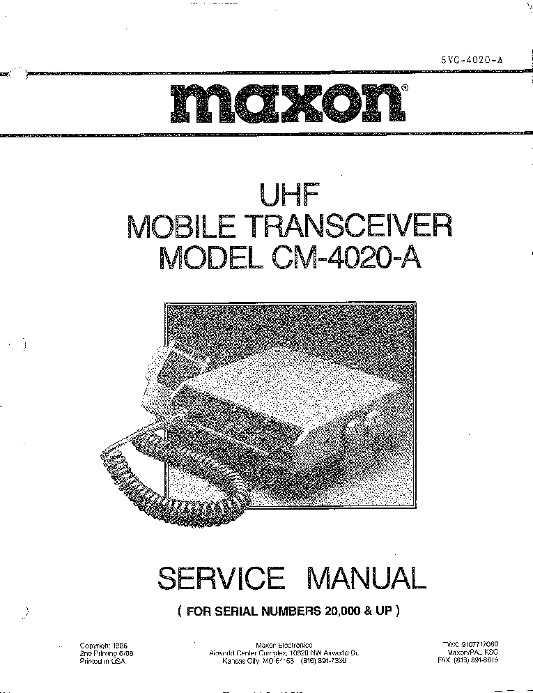 MAXON MCB60A SCH Service Manual download, schematics