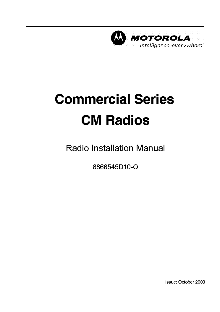 MOTOROLA RLN-4008D Service Manual free download