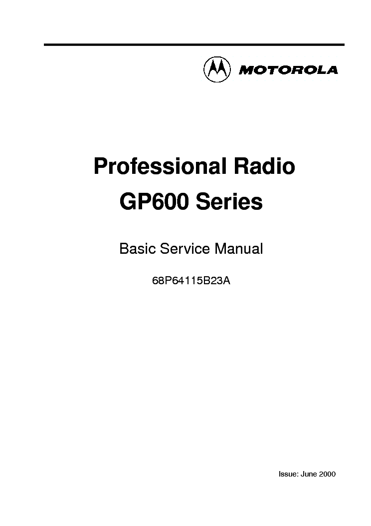 MOTOROLA GP600 Service Manual download, schematics, eeprom