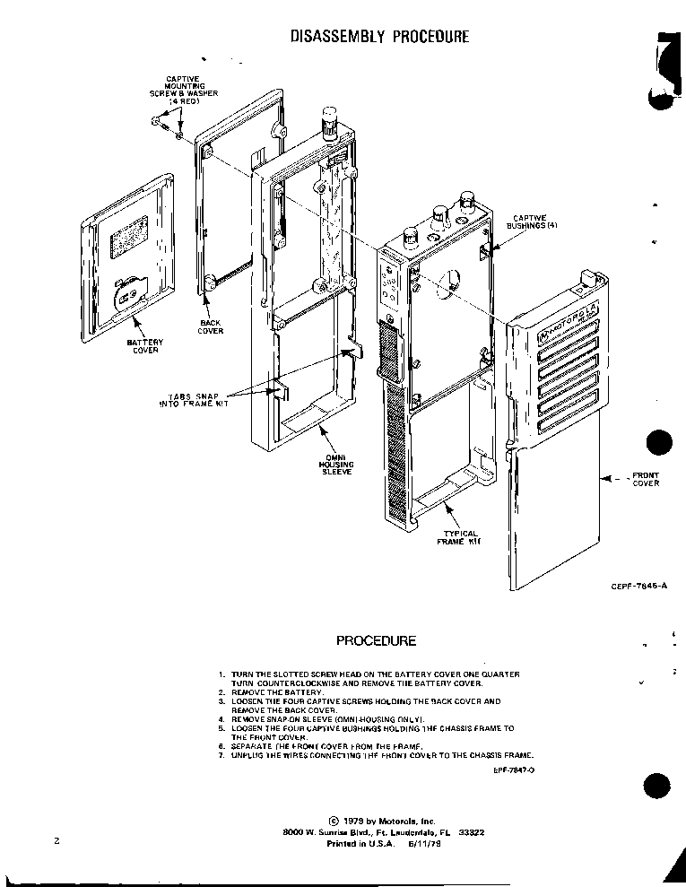MOTOROLA MT500 SERIES SM Service Manual download