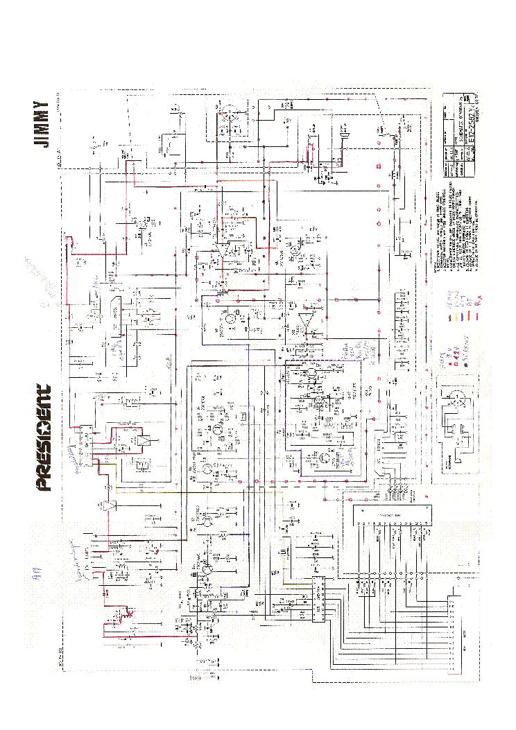 PRESIDENT JIMMY SCH Service Manual download, schematics