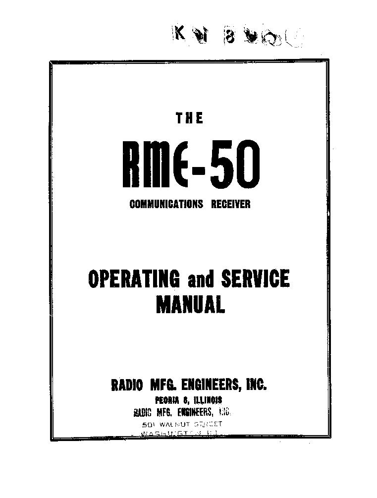 RME DB22A RF AMP AND PRESELECTOR Service Manual download