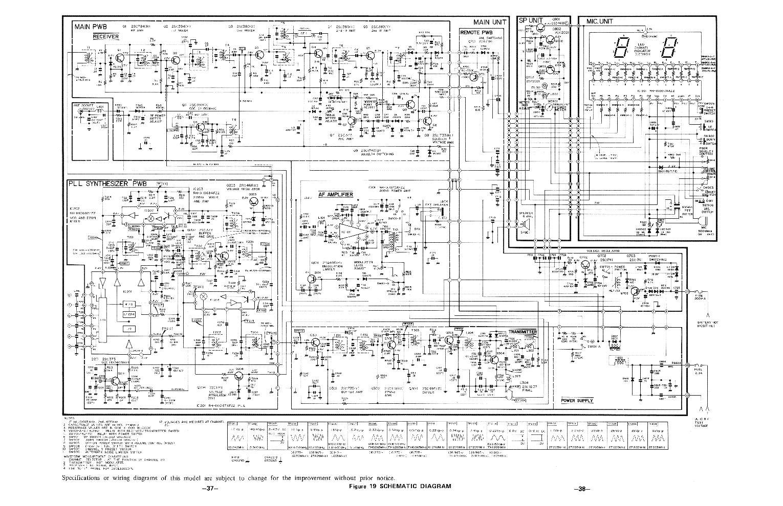 SHARP CBT-66 SM Service Manual download, schematics