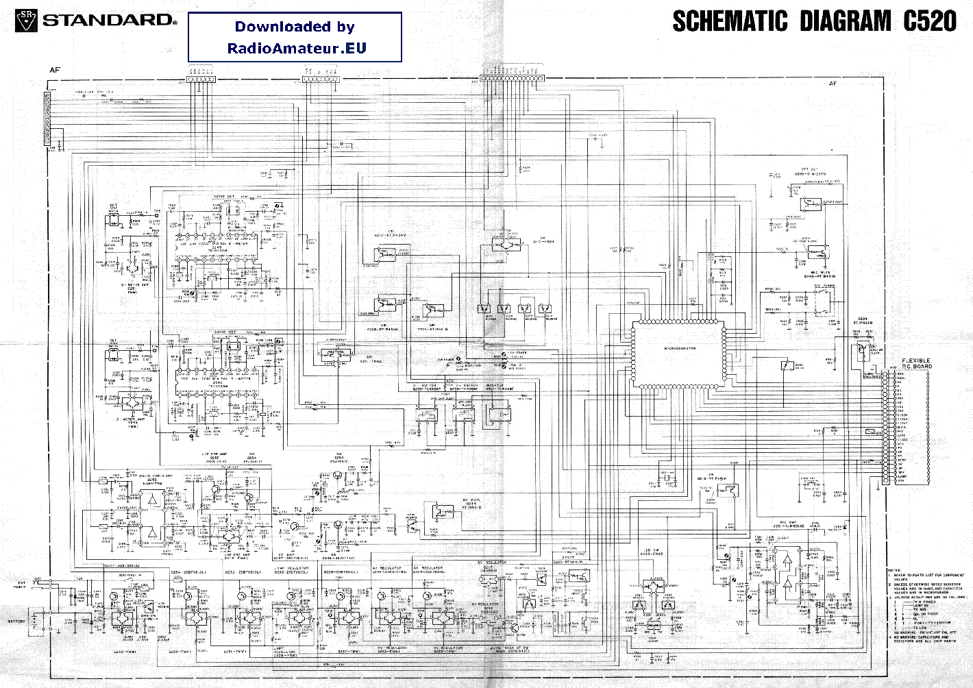STANDARD C520 Service Manual download, schematics, eeprom