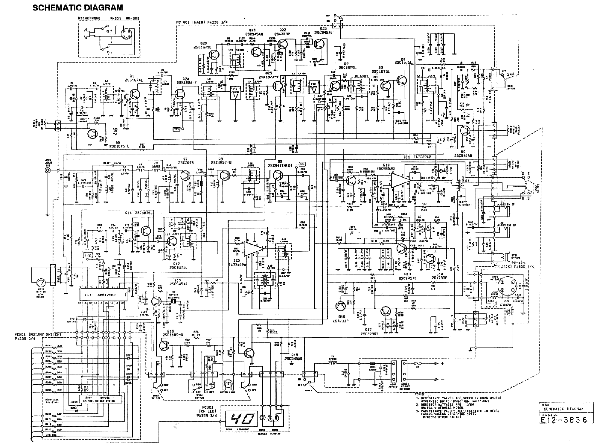 UNIDEN BC3000XLT Service Manual download, schematics
