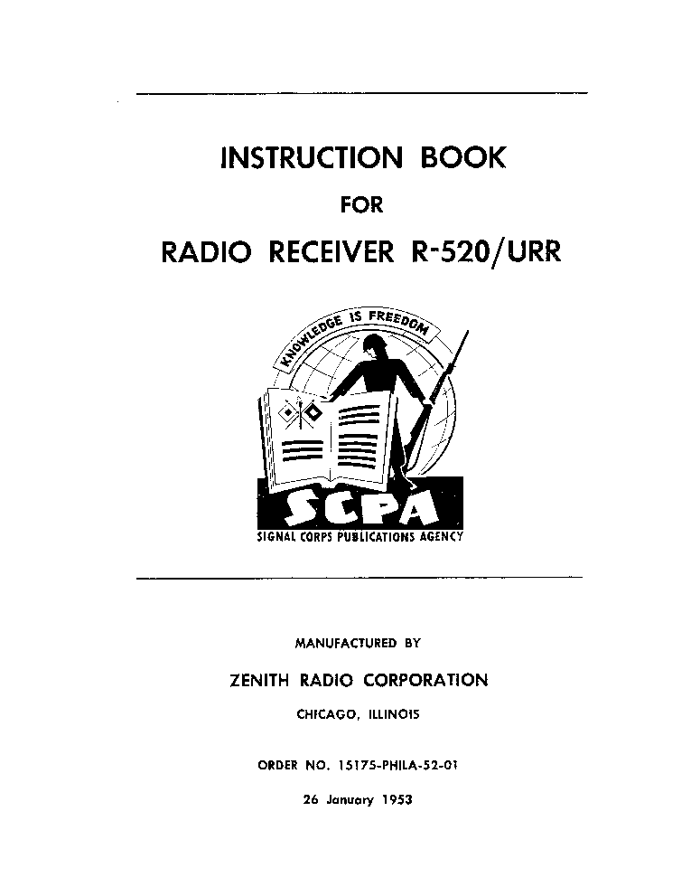 US MILITARY RADIO BC-375-E TRANSMITTER Service Manual
