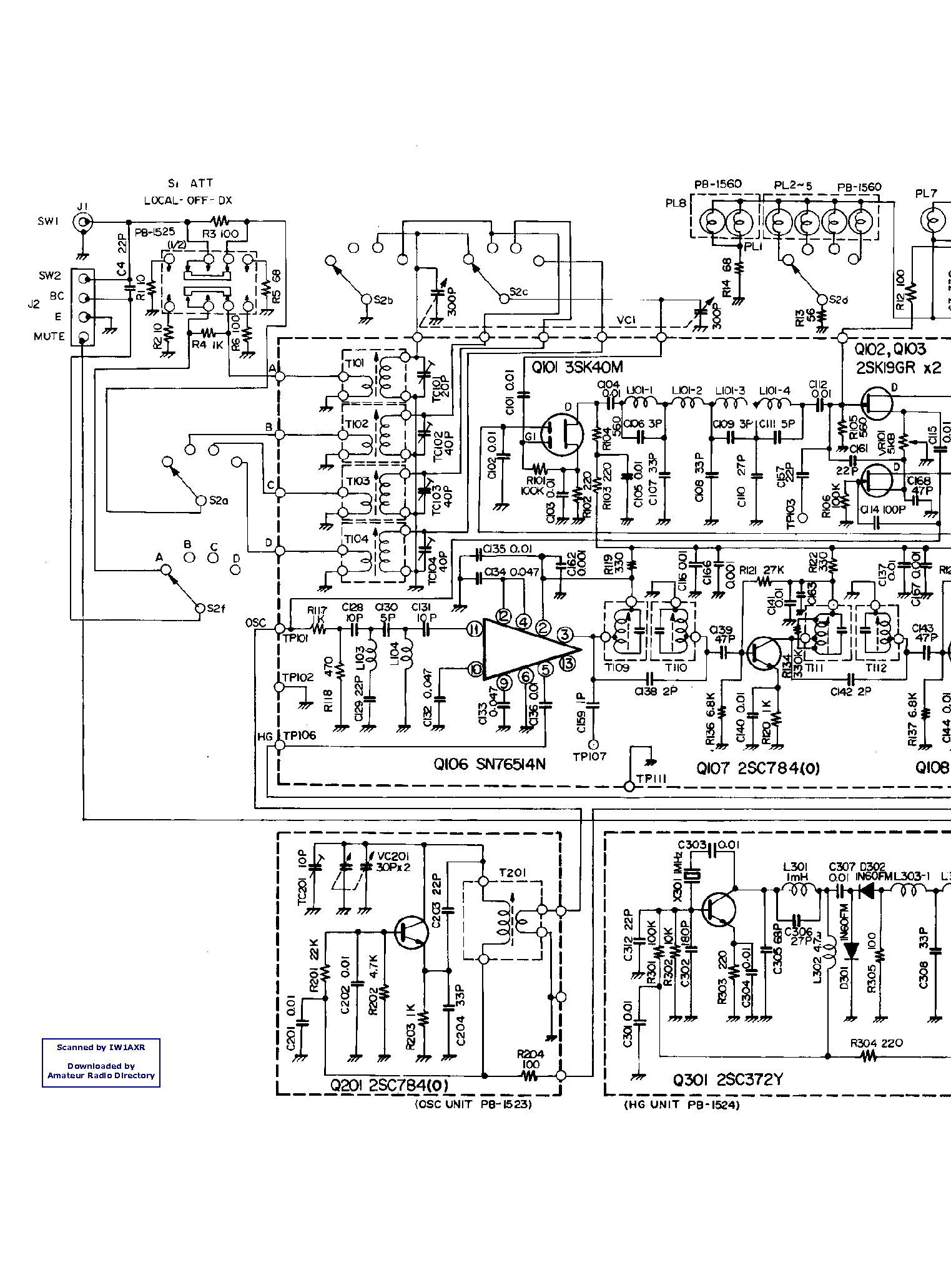 YAESU FT-290R Service Manual download, schematics, eeprom