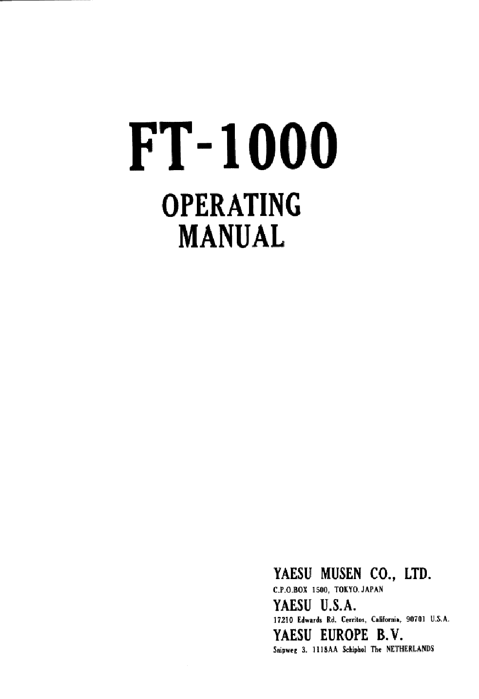 YAESU FT-767GX Service Manual free download, schematics
