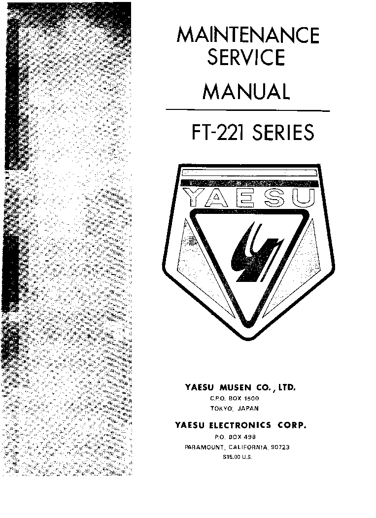YAESU FRG-100 Service Manual download, schematics, eeprom