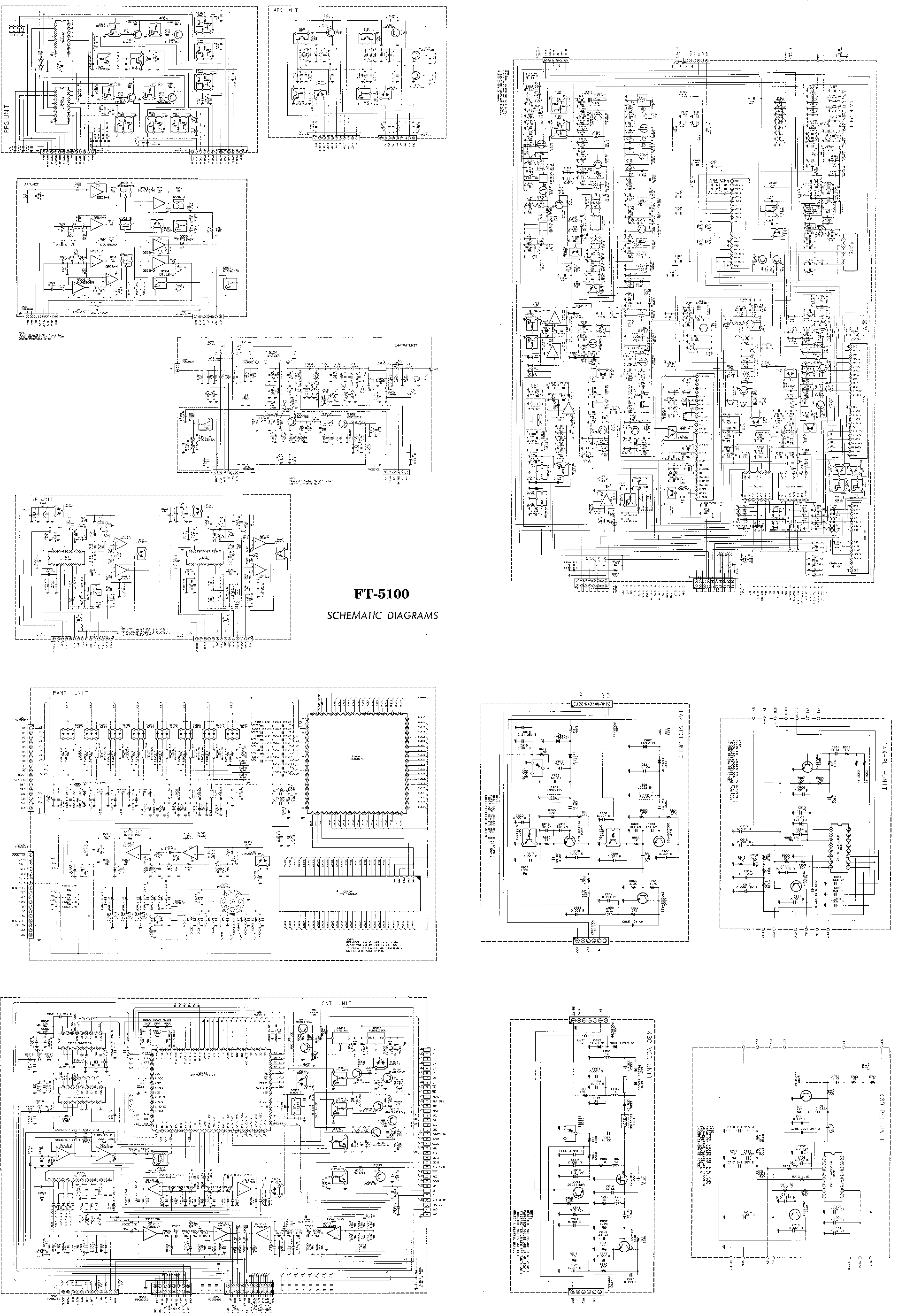 YAESU FT-5100 Service Manual download, schematics, eeprom