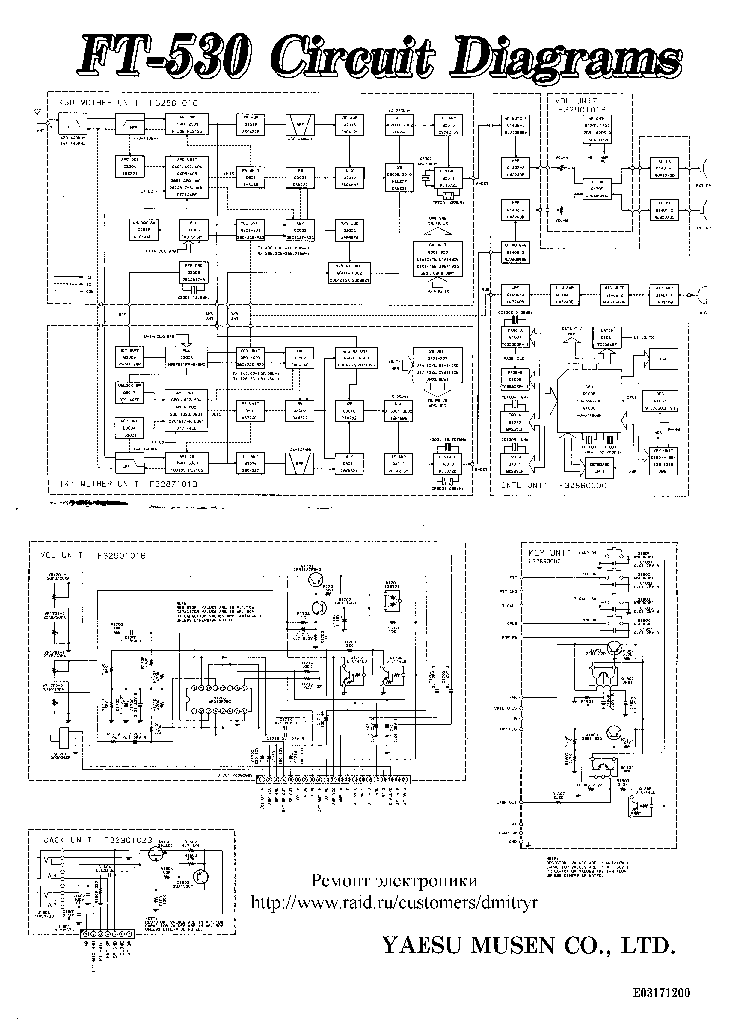 YAESU FT-530 CB SCH Service Manual download, schematics