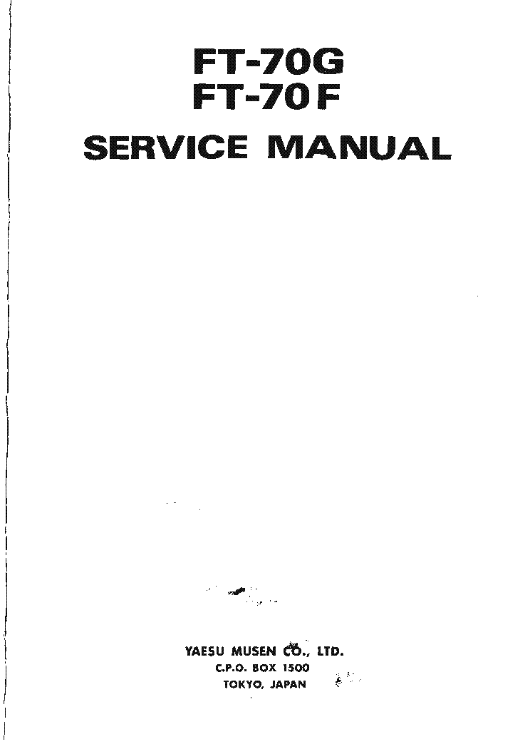 YAESU FT-70G FT-70H SM Service Manual download, schematics