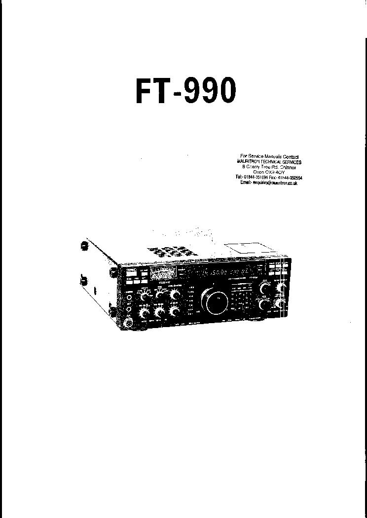 YAESU FT-990 SM Service Manual download, schematics