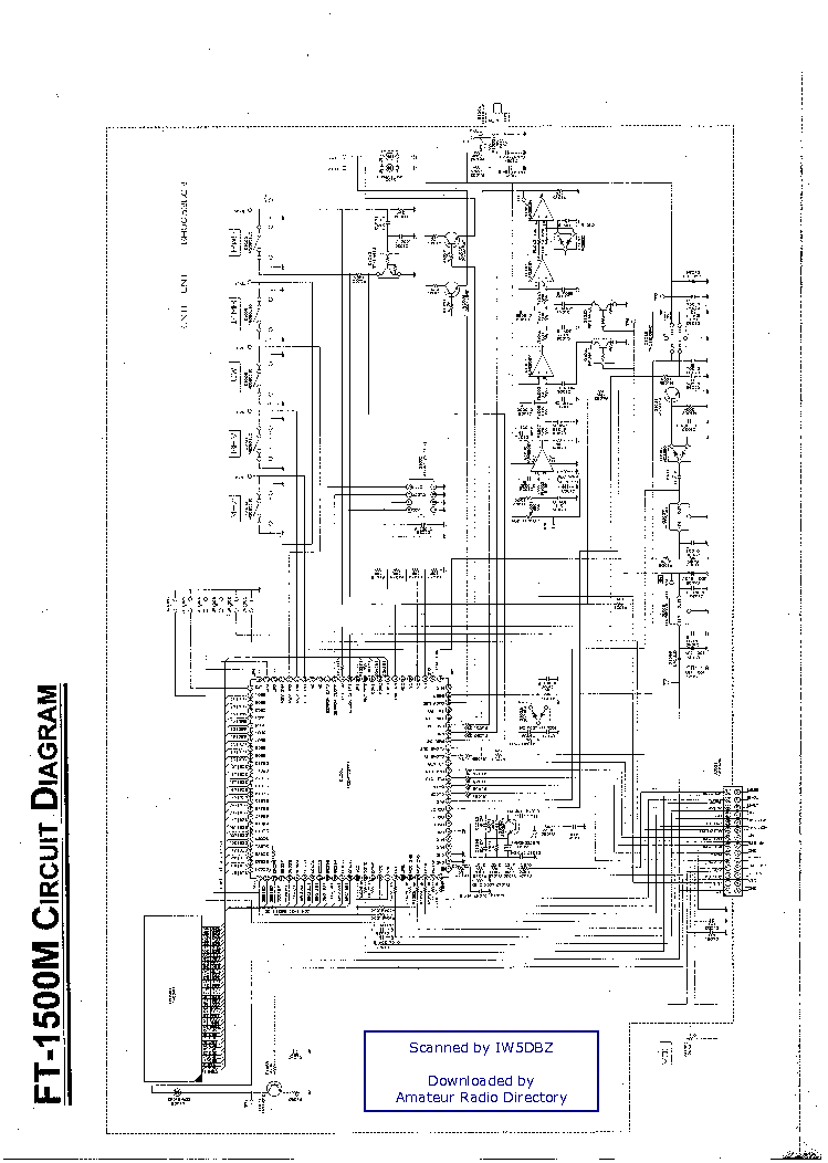 YAESU FT1500M Service Manual download, schematics, eeprom