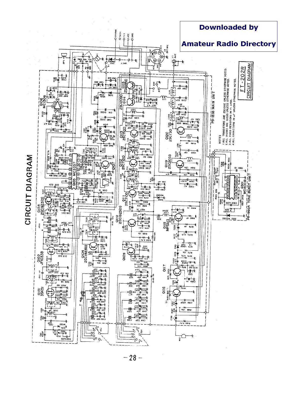 YAESU FT-212RH Service Manual download, schematics, eeprom