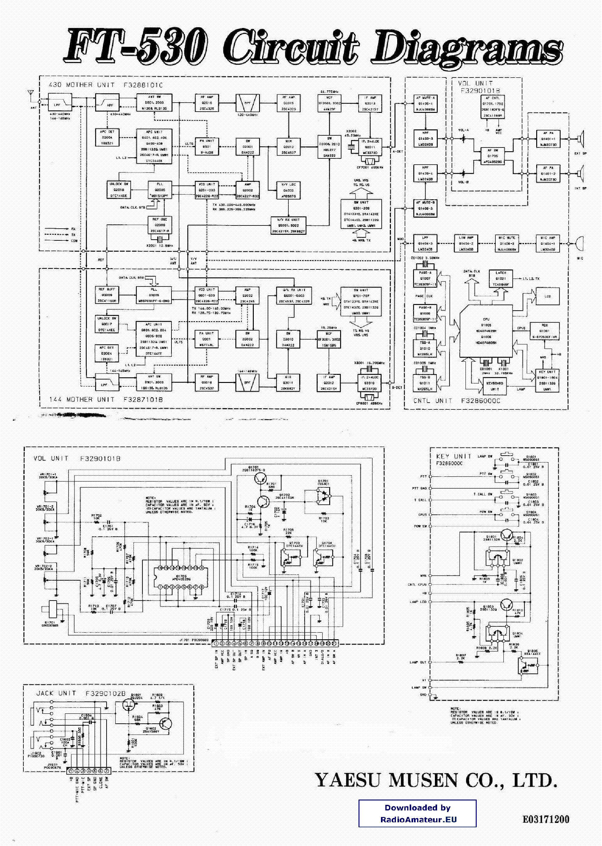 YAESU FT530 Service Manual download, schematics, eeprom