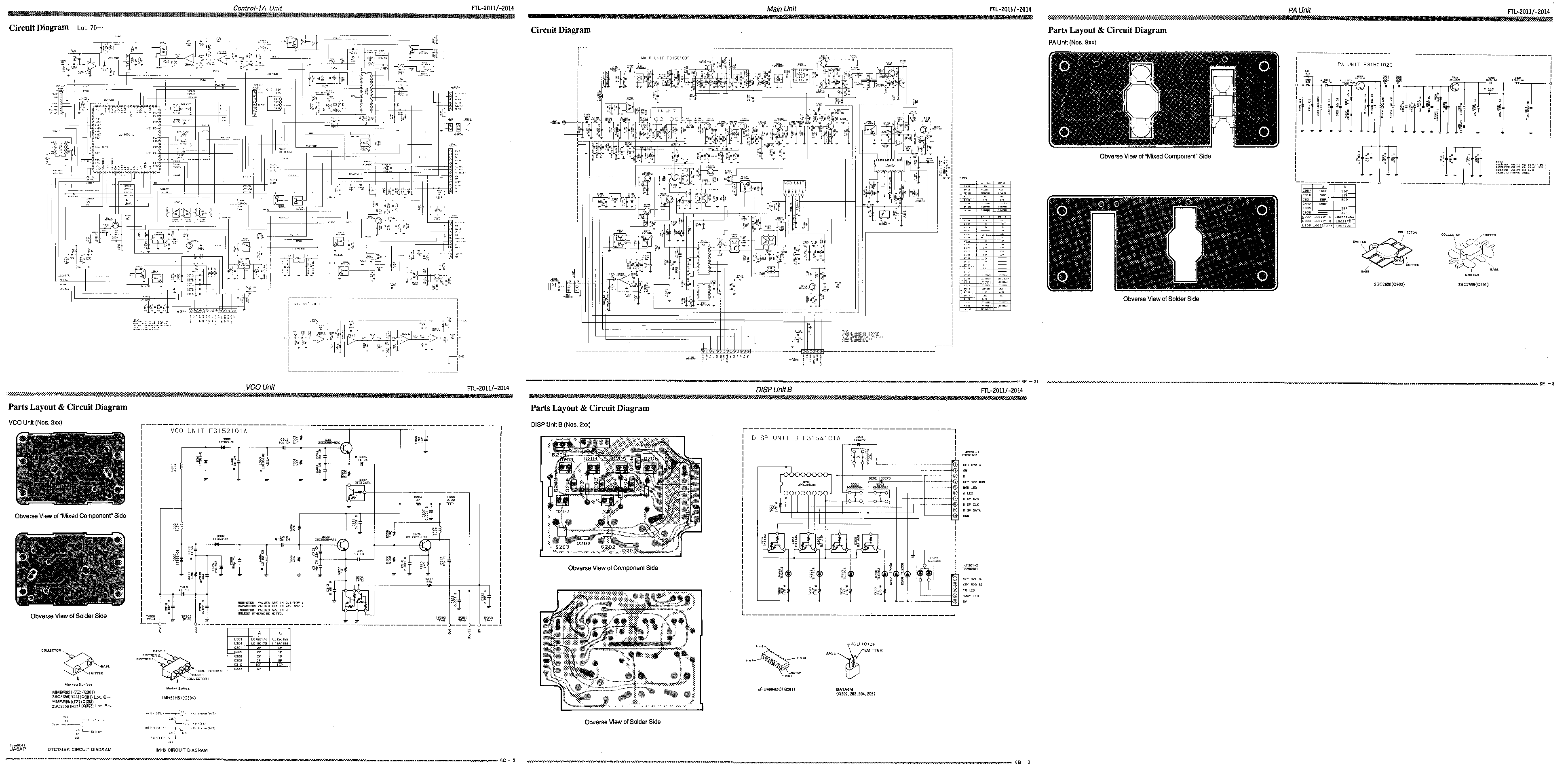 YAESU FTL-2011,2014 Service Manual download, schematics
