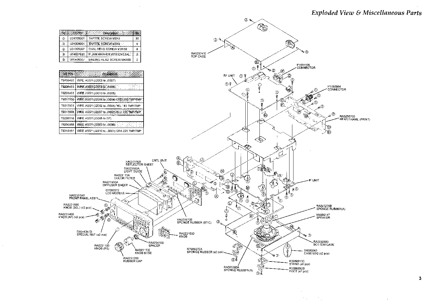 YAESU VR-5000 Service Manual download, schematics, eeprom