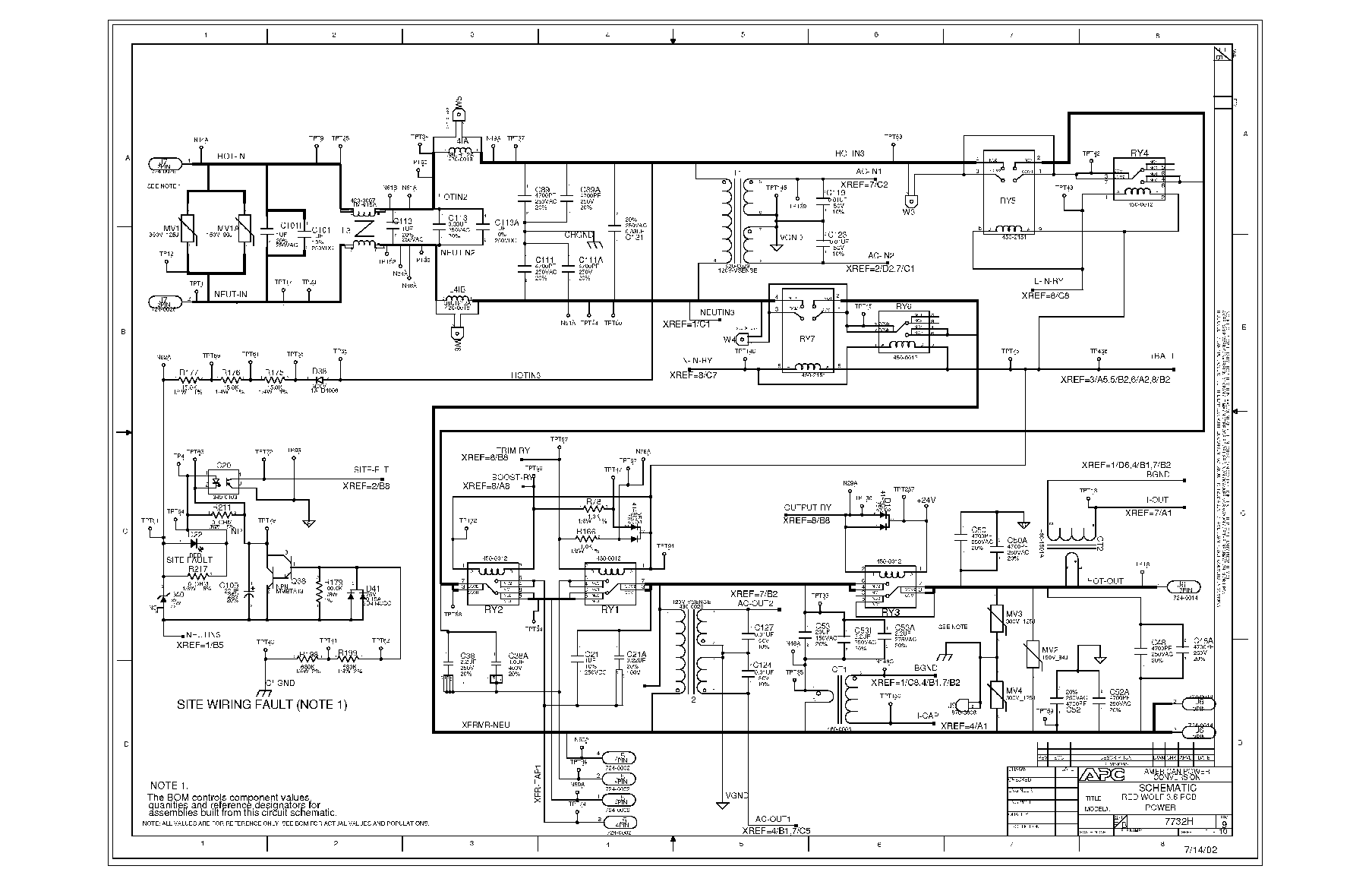 APC 640-7732H Service Manual download, schematics, eeprom