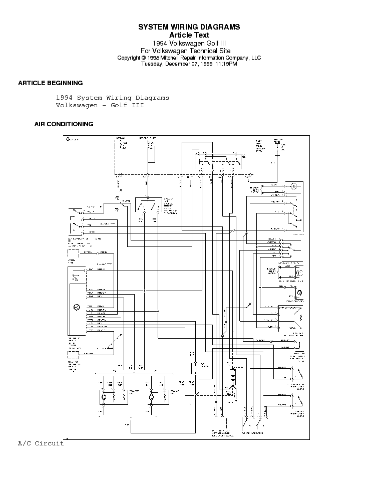 [CTNR_5314] Volkswagen Golf 3 User Wiring Diagram Free