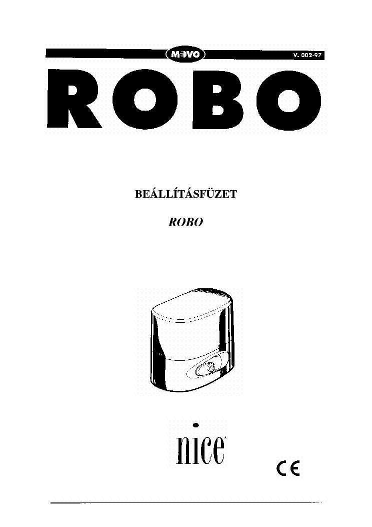 NICE ROBO Service Manual download, schematics, eeprom