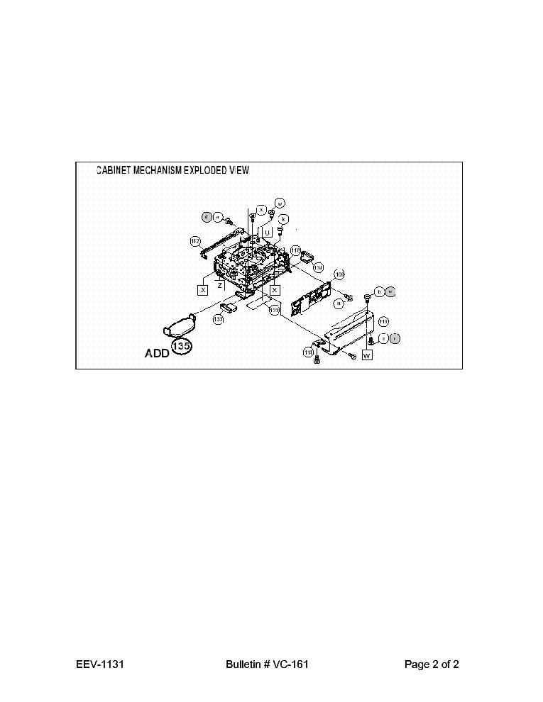 SHARP VL-Z7U VC-161 TECH BULLETIN Service Manual download