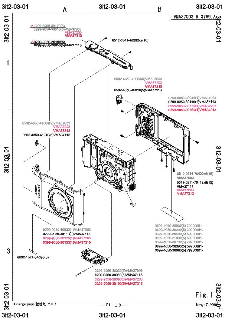 NIKON COOLPIX L19 PARTS LIST Service Manual download