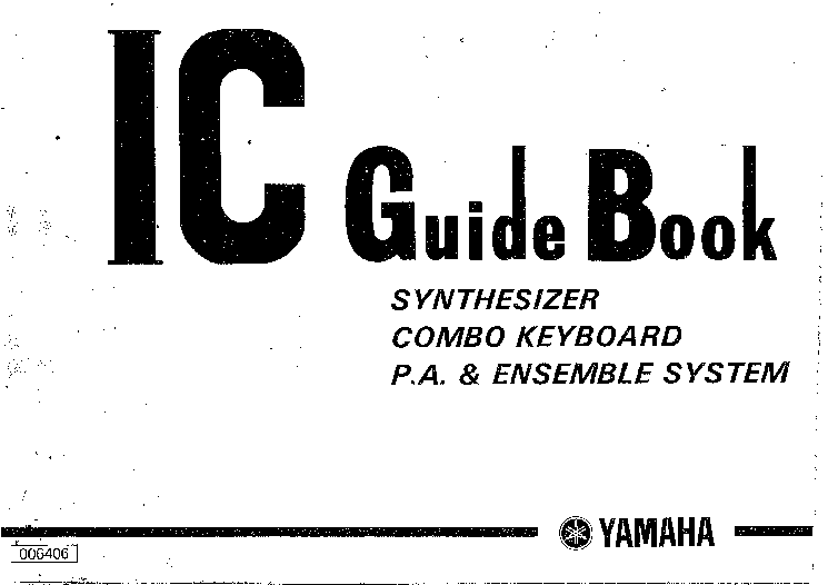 YAMAHA YAMAHA IC-GUIDE-BOOK Service Manual download