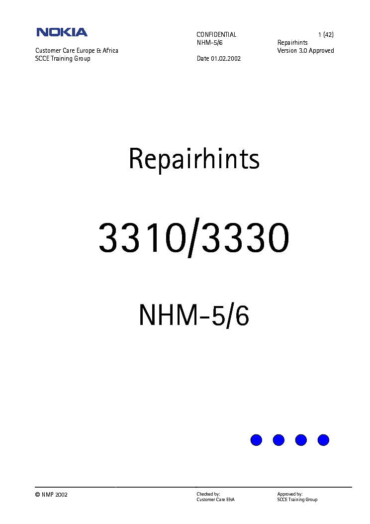 NOKIA 3310 3330 REPAIR HINTS Service Manual download