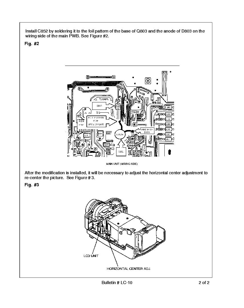 SHARP XV-P10U LC-010 TECH BULLETIN Service Manual download