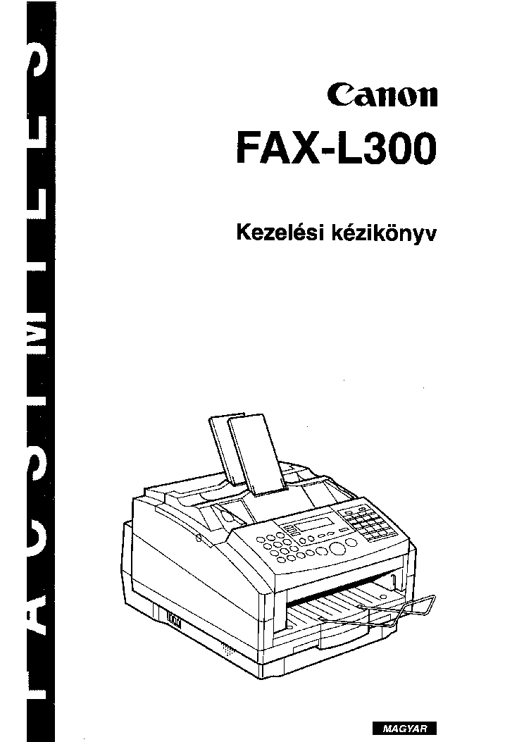 CANON FAX-L300 USERS-GUIDE HUN Service Manual download