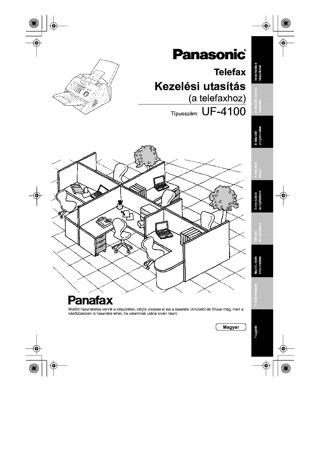 PANASONIC UF-4100 Service Manual download, schematics