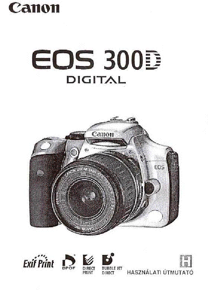 CANON EOS-300D USERMANUAL HU Service Manual download