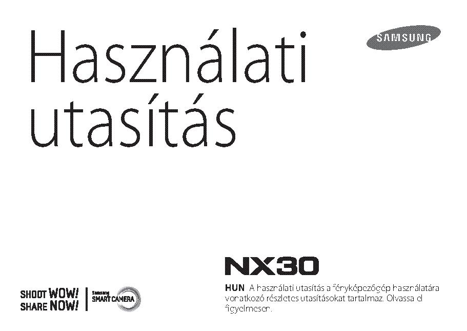 SAMSUNG NX30 HASZNALATI UTMUTATO Service Manual download