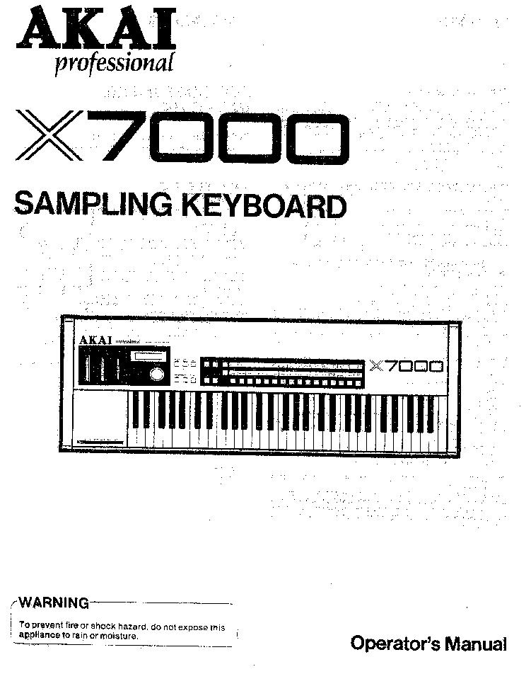 AKAI X7000 MANUAL PDF