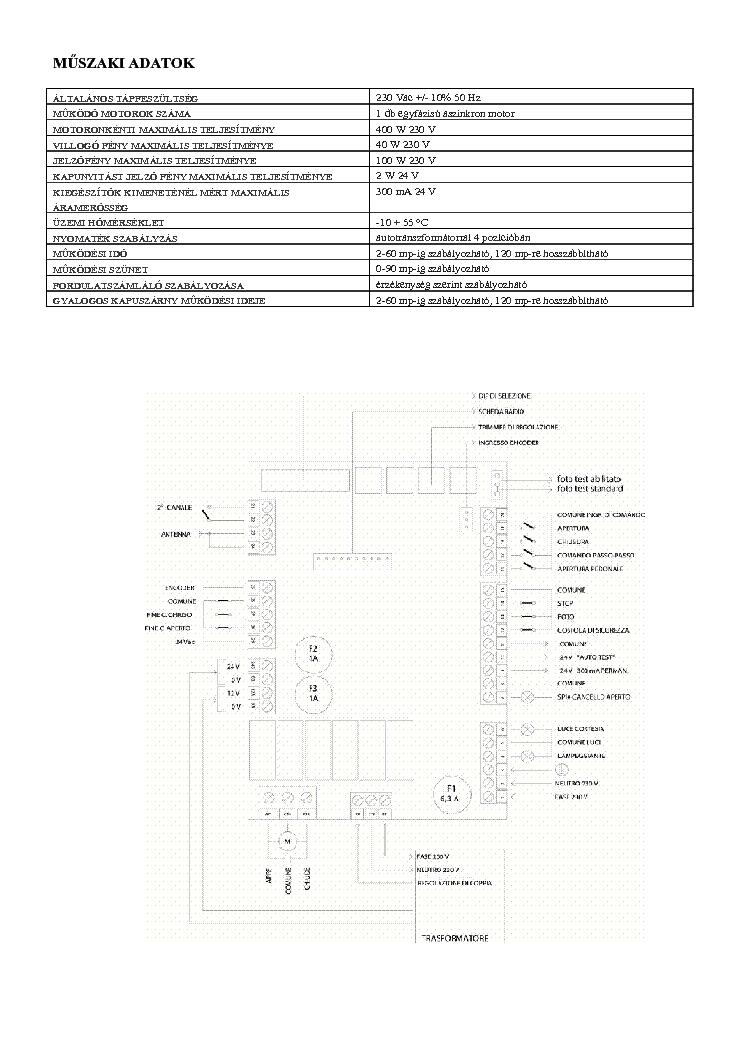 ROGER R70 1 AC VEZERLES USREMANUAL HU Service Manual